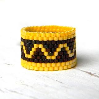 Кольцо из бисера - украшения из бисера от Anabel