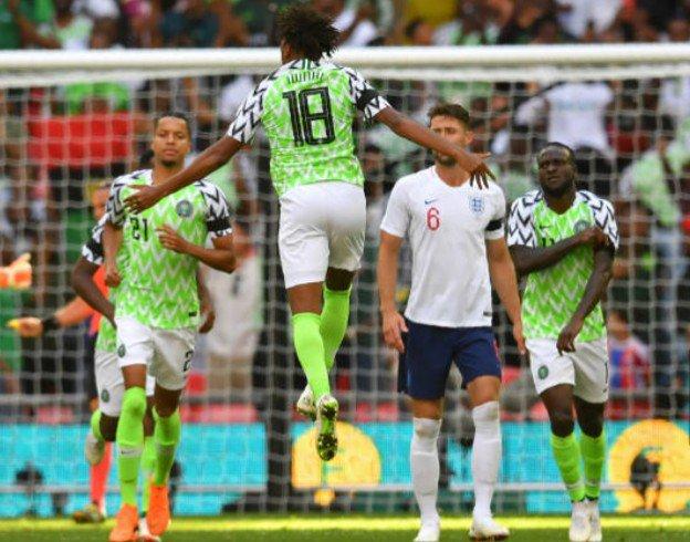 England 2 vs 1 Nigeria : Iwobi goal not enough for Super Eagles