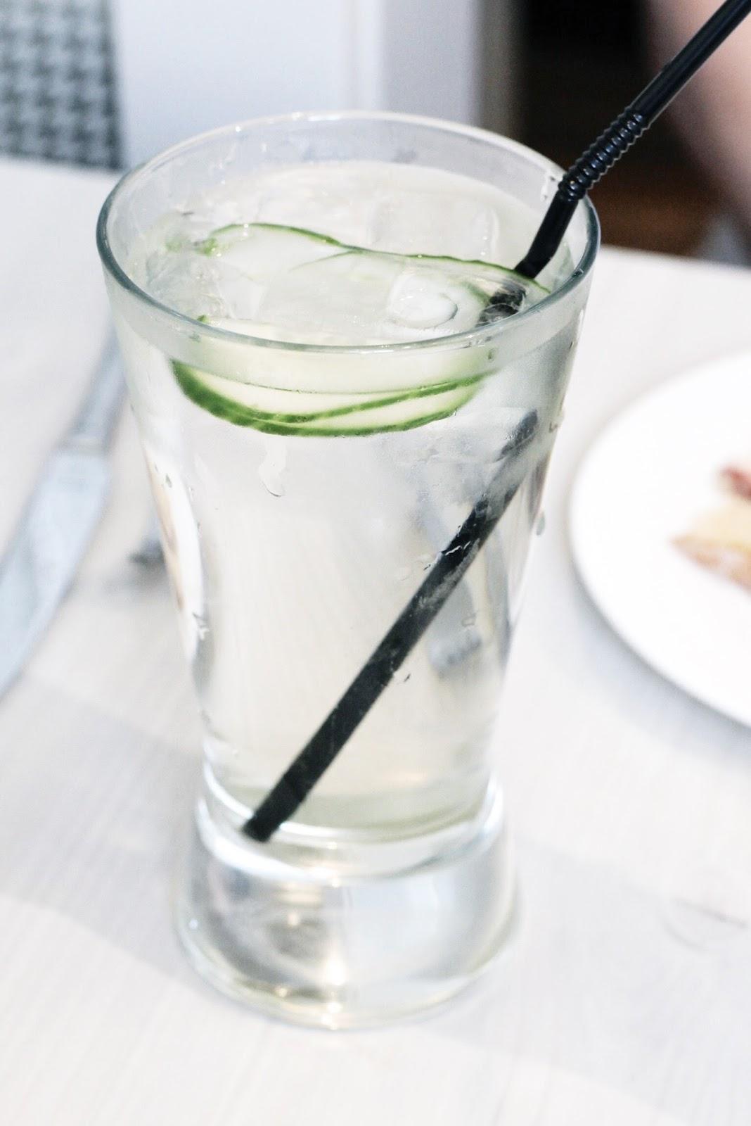 Glass of Elderflower Cordial at Jolly's Tea Room