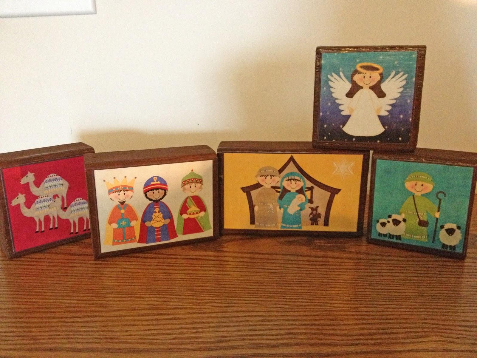 LifeTalesBooks Personal Publishing chunky nativity craft blocks for