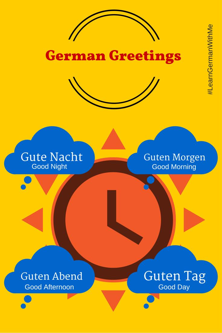 Learn German With Me Basic German Greetings Guten Tag