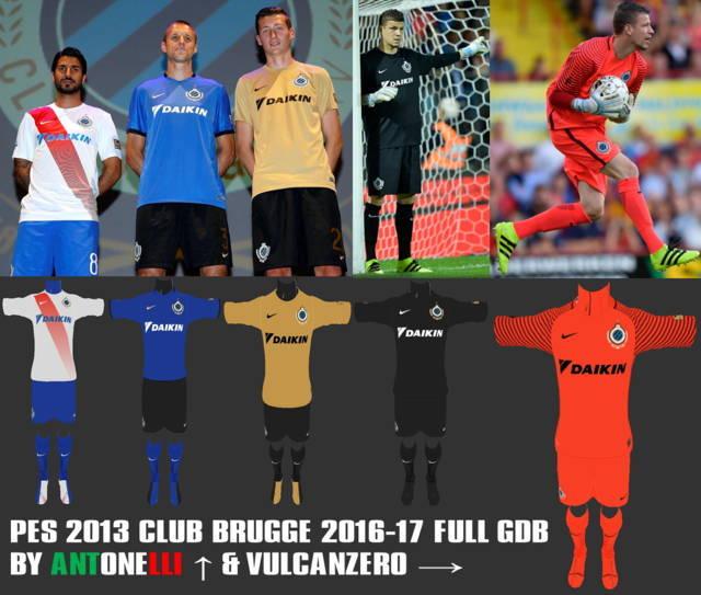 PES 2013 Club Brugge Kit Season 2016-2017