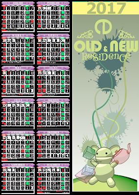 Desain Kalender 2017 CDR Vektor Terbaru