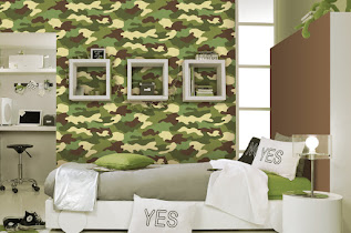 Beautiful Camo Wallpaper For Walls At Gorgeous Bedroom