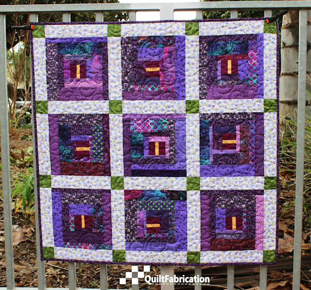Purple Passionflower quilts