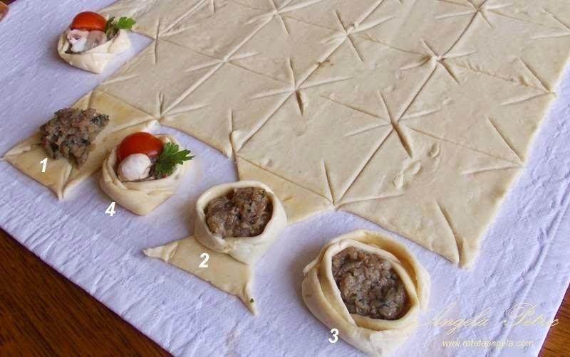 Preparare cusulete cu ciuperci-etapa 7