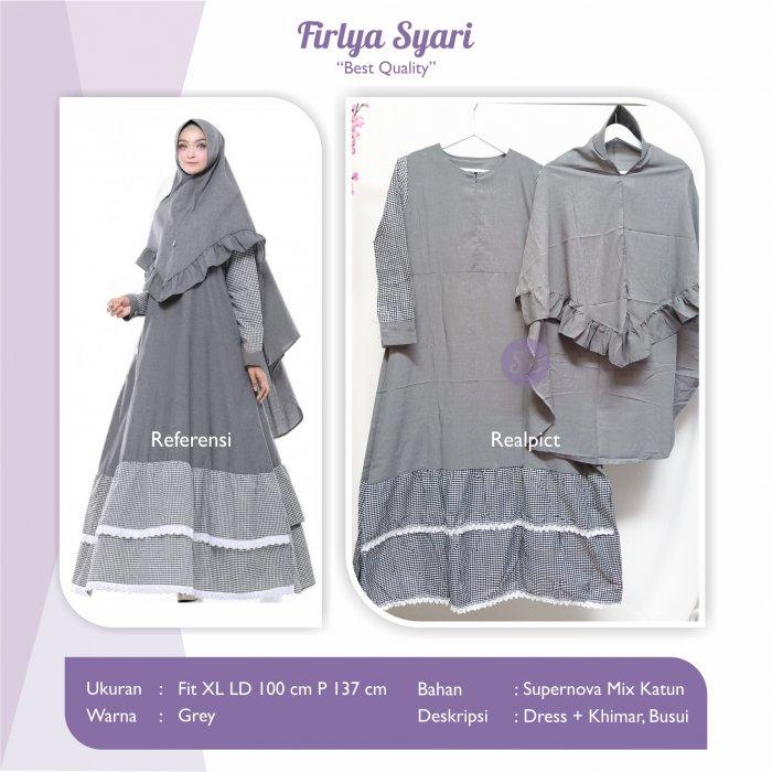 Jual Baju Busana Muslim Dress Firlya Syari