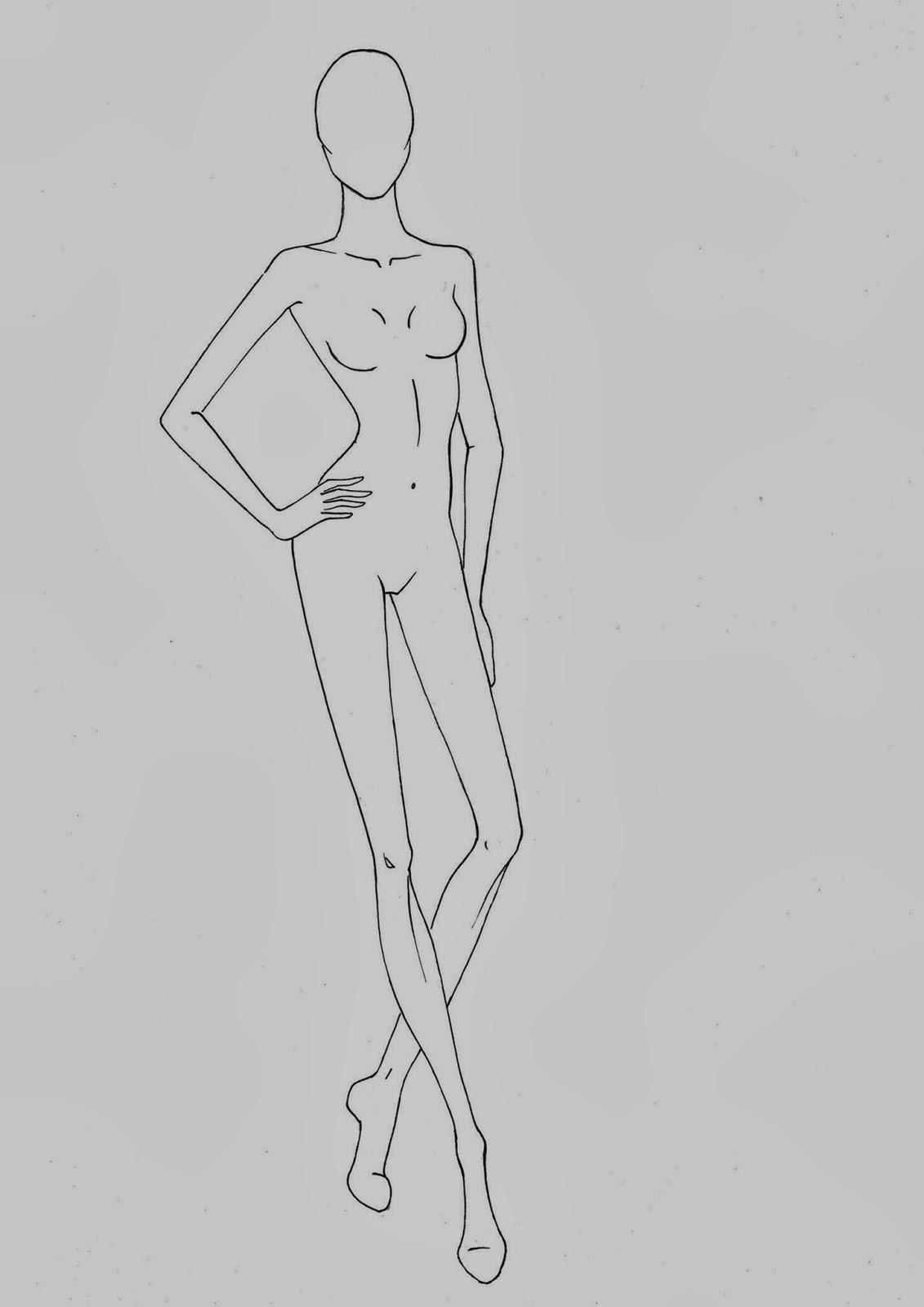 Amato Fashion croquis templates - corpi figurini base moda 2 | Fashion  WO92