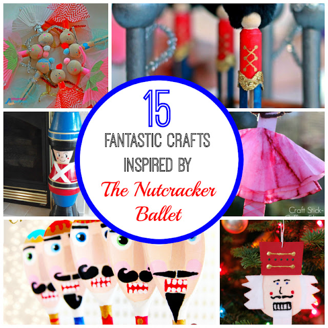 15 crafts for kids and adults inspired by the Nutcracker ballet.