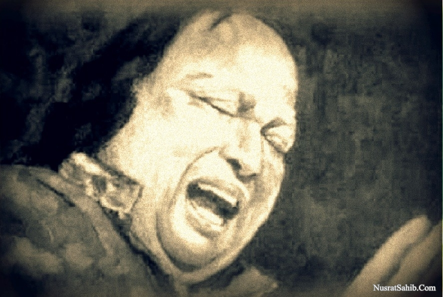 Saqi Yeh Khud Kahe Tujhe Paimaana Chahiye Lyrics Translation in English Nusrat Fateh Ali Khan [NusratSahib.Com]