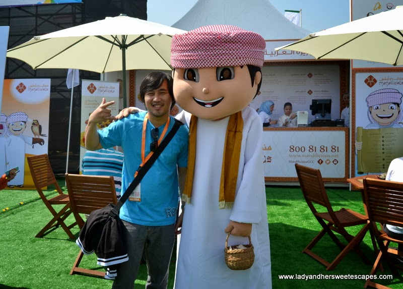 Nawaf of Mandilicious at the Dubai Food Carnival
