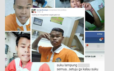 Si Tamvan Penghina Suku Lampung Uyung Mustopa Punya Enam Akun Medsos Palsu