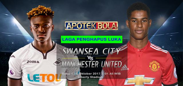 Prediksi Pertandingan - Swansea City vs Manchester United 25 Oktober 2017