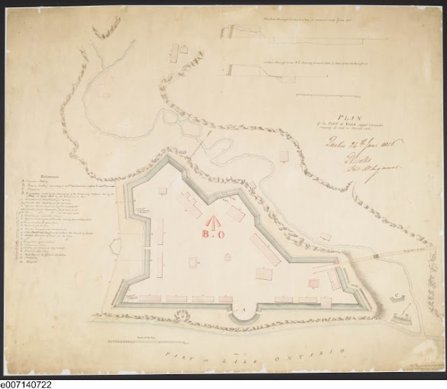 Plan of Fort at York, Upper Canada, shewing its state in March 1816, Gustavus Nicolls, J.B. Duberger