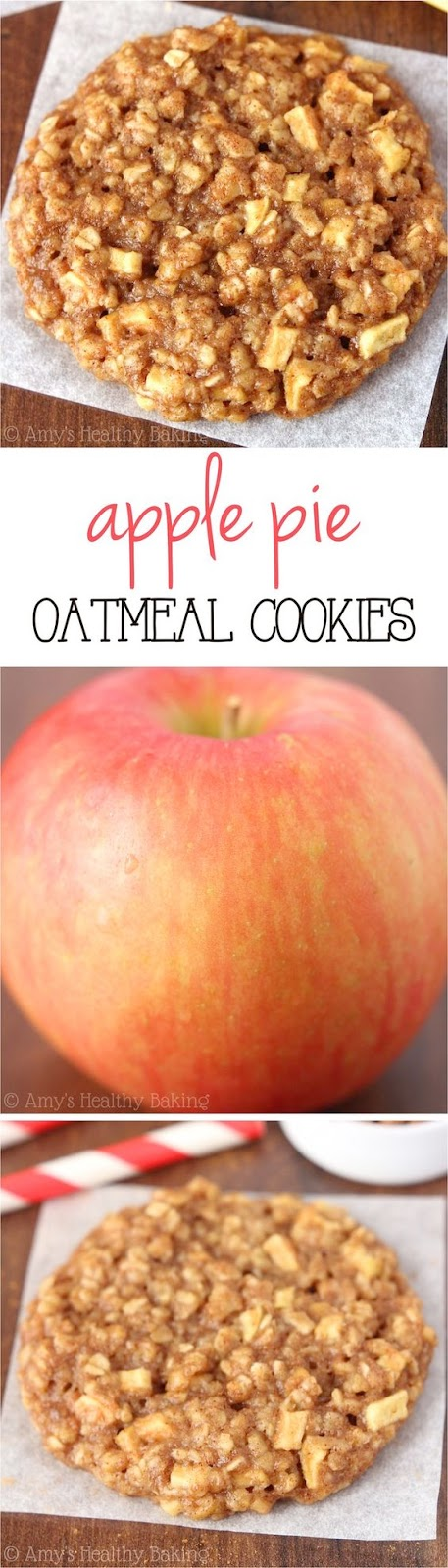 Apple Pie Oatmeal Cookies