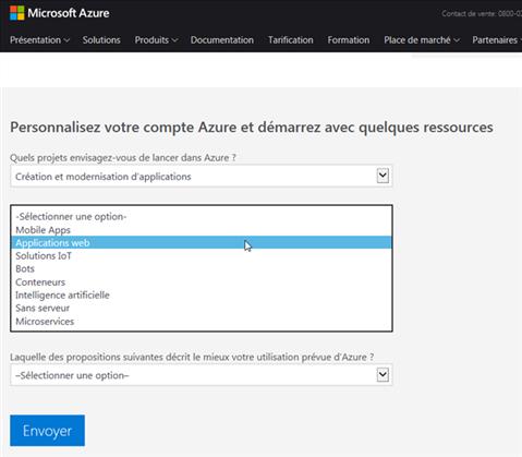 Azure Cloud - Personnalisation du compte - 2