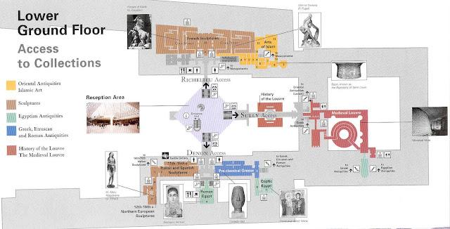 Mapa Coleções do Museu do Louvre