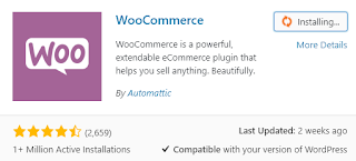 Installer et activer WooCommerce.