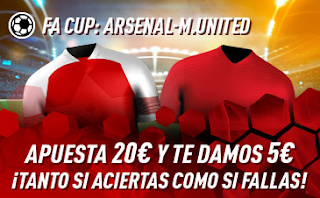 sportium promo FA CUP Arsenal vs United 25 enero