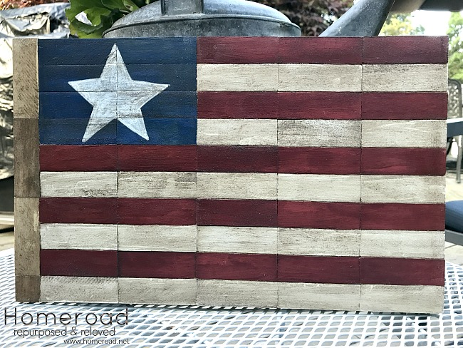 Rustic American Flag DIY