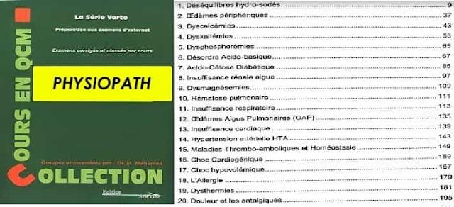 Série Verte de Physiopathologie PDF gratuit