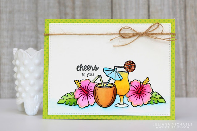 Sunny Studio Stamps: Tropical Paradise Summer card by Juliana Michaels.