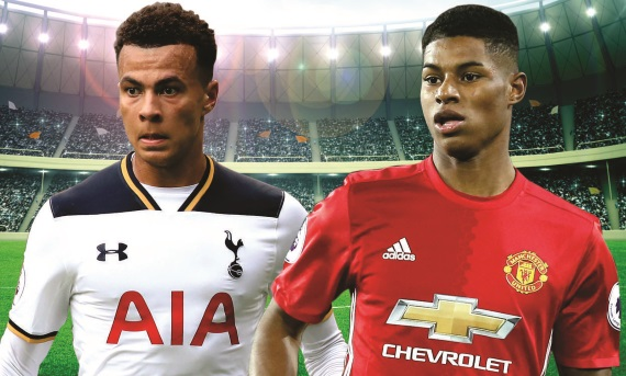 Tottenham and Manchester United will square off at White Hart Lane on Sunday