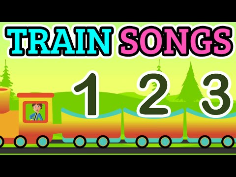 Numbers Train Songs Cartoon Rhymes 1234 | Nursery Rhymes