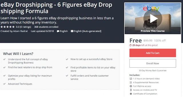 [100% Off] eBay Dropshipping - 6 Figures eBay Drop shipping Formula| Worth 99,99$