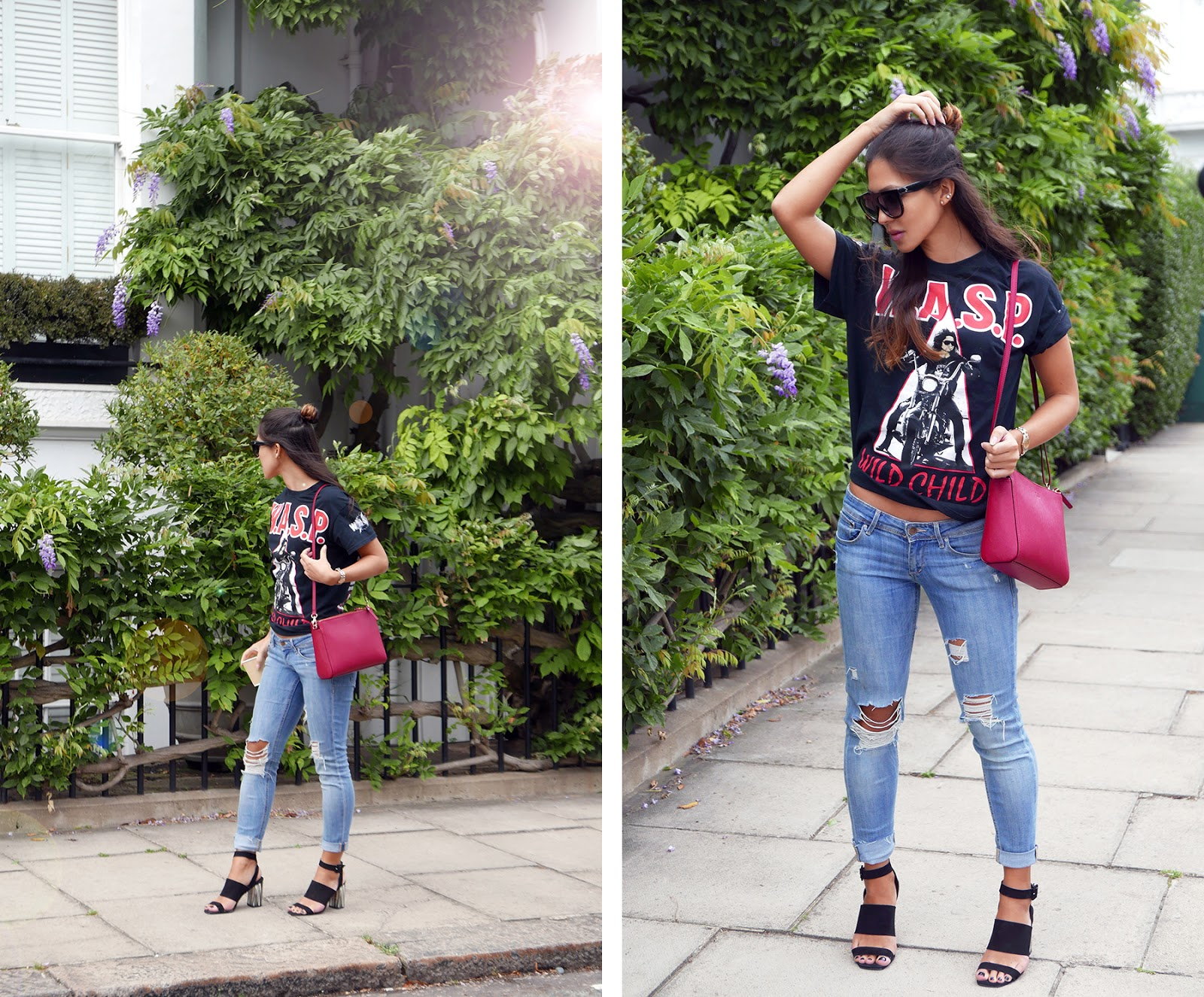 Euriental | fashion & luxury travel | WASP tshirt, Lo & Sons bag, Topshop heels