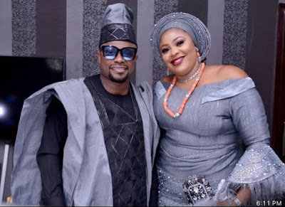 Popular Actor Okon Lagos and His Beautiful Wife Celebrate 5th Wedding Anniversary