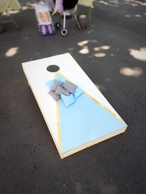 corn hole bean toss diy homemade easy tutorial