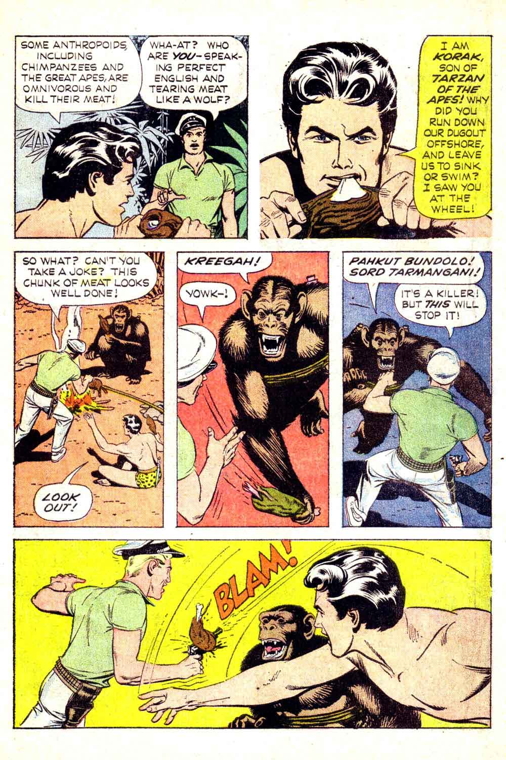 Korak Son of Tarzan v1 #2 gold key silver age 1960s comic book page art by Russ Manning