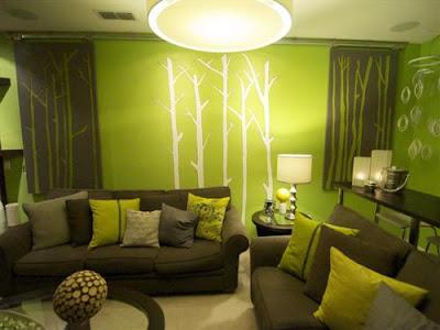 ruang tamu warna ceria, gambar ruang tamu warna ceria, ruang rehat warna ceria, ruang tamu warna pink, ruang tamu warna kuning, ruang tamu warna hijau