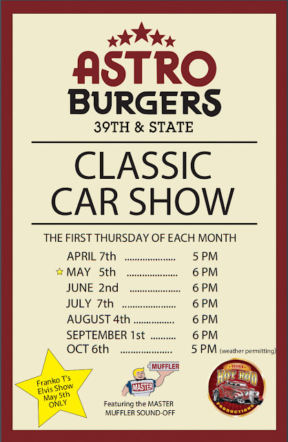 Car Show and Elvis Tribute Show at Astro Burgers May 5th 2016