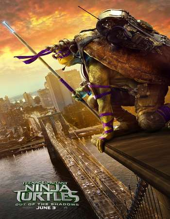 Poster Of Teenage Mutant Ninja Turtles Out of the Shadows 2016 English 700MB CamRip Free Download Watch Online Worldfree4u