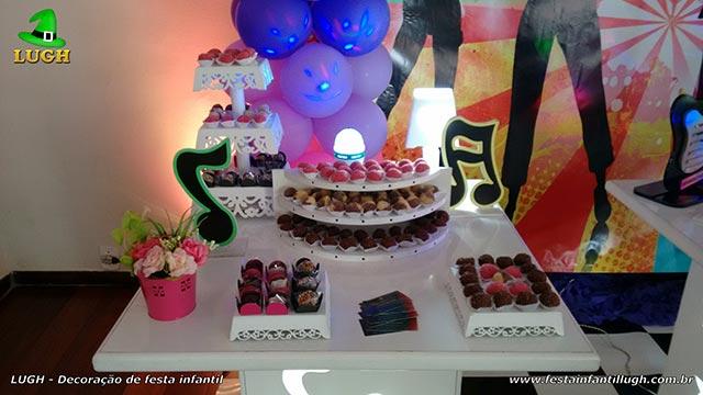 Decoração tema Discoteca para festa infantil feminina - temas - aniversário