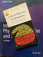 A Short History of Chemistry, by Isaac Asimov, superimposed on Intermediate Physics for Medicine and Biology.