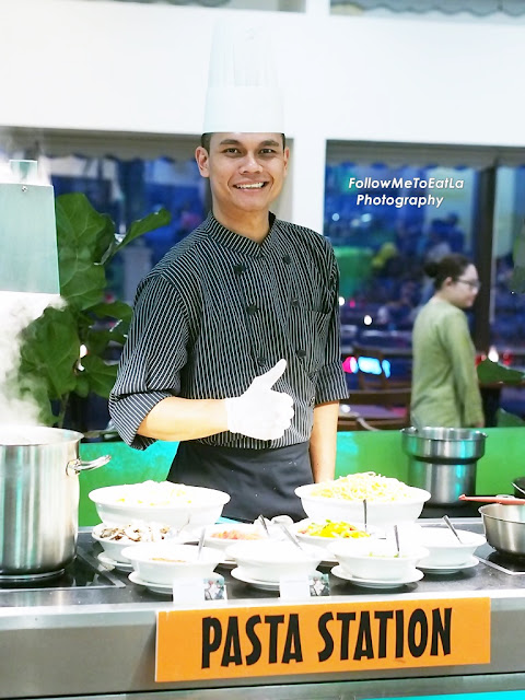 Handsome Chef At Pasta Station