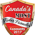 CANADA'S MOST RIDER FRIENDLY COMMUNITY CONTEST WINNER ANNOUNCED