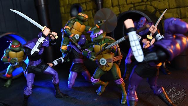 San Diego Comic-Con 2017 NECA Exclusive Teenage Mutant Ninja Turtles 30th Anniversary Cartoon Action Figure Box Set