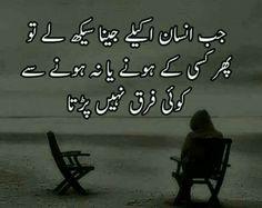 Jub insaan akelay jeena seekh laay - Urdu Poetry Lovers