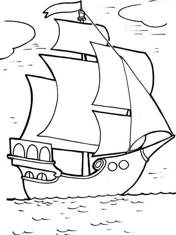Tranh tô màu phong cảnh thuyền