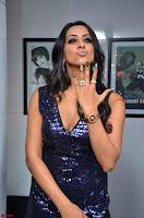 Sanjana looks happy in sparkling short Deep neck Purple Gown ~  Exclusive 48.JPG