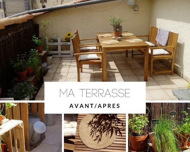 DECO : Découvrez l'aménagement avant-après de ma terrasse ! / www.by-laura.fr