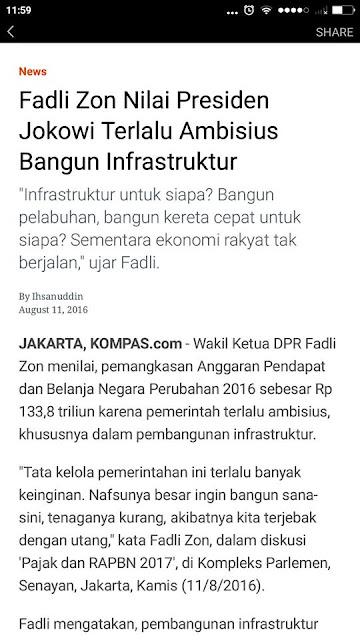 Setan Kredit di Pembangunan Infrastruktur Indonesia