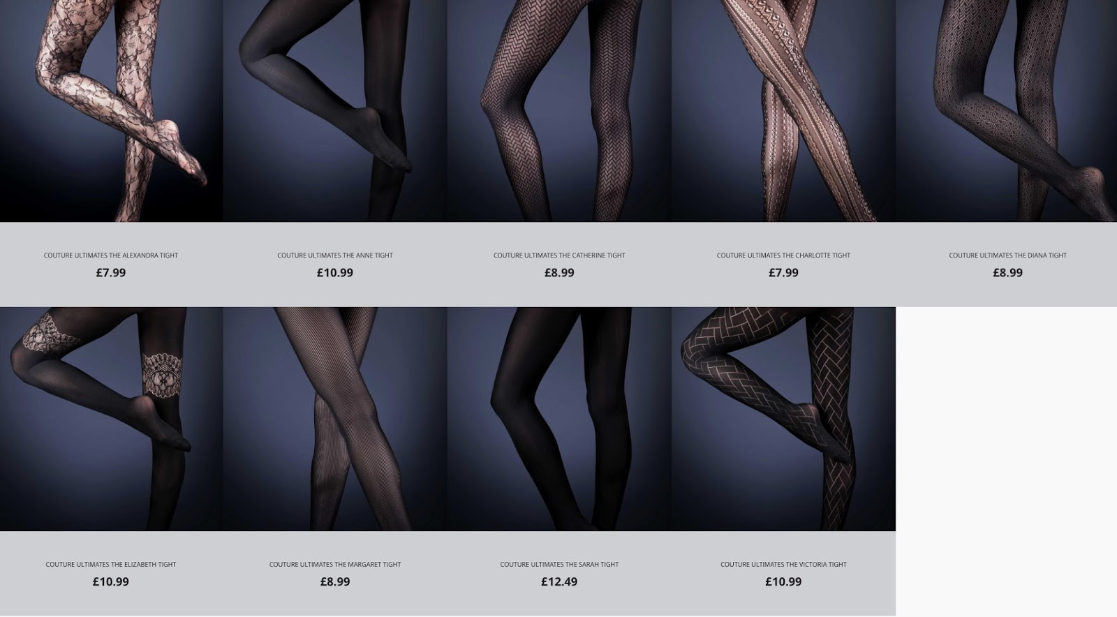 725f38a7b ... seamless and ladder-proof tights. The website provides information  about the collection and you can purchase all nine Couture Ultimates styles  directly.