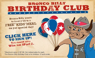 Lone Star FREE Kids Birthday Meal And a Contest