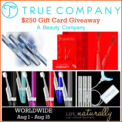 Enter the $250 True Company GC Giveaway. Ends 8/15