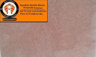 Egyptian granite staires
